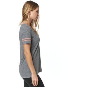 Fox Heartbreaker V-Neck SS Shirt Women heather graphite